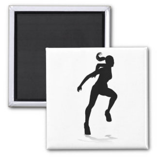 Runner Racing Track and Field Silhouette Magnet