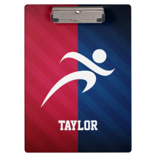 Runner; Red, White, and Blue Clipboard
