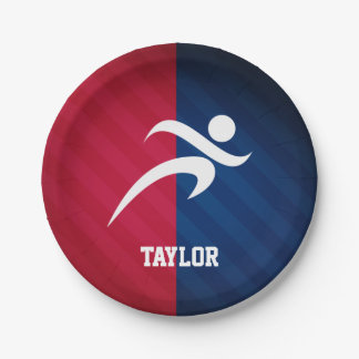 Runner; Red, White, and Blue 7 Inch Paper Plate