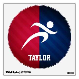 Runner; Red, White, and Blue Room Graphic