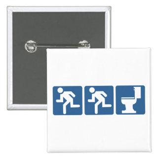 Runner-Runner Flush Pinback Button