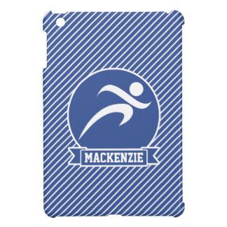 Runner, Running, Blue & White Stripes, Sports iPad Mini Cover