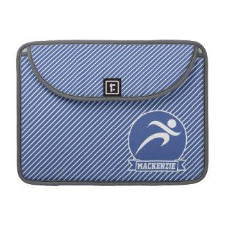 Runner, Running, Blue & White Stripes, Sports Sleeve For MacBooks