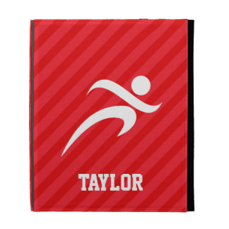 Runner; Scarlet Red Stripes iPad Folio Cover