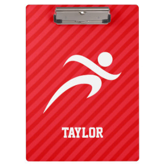 Runner; Scarlet Red Stripes Clipboard