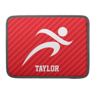 Runner; Scarlet Red Stripes Sleeve For MacBook Pro