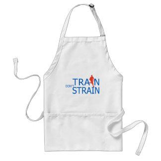 runner silhouette running train don t strain aprons