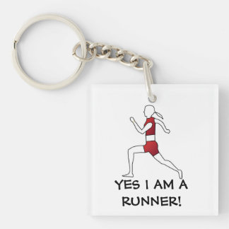 RUNNER Single-Sided SQUARE ACRYLIC KEYCHAIN