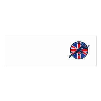 Runner Sprinter Start British Flag Circle Business Card