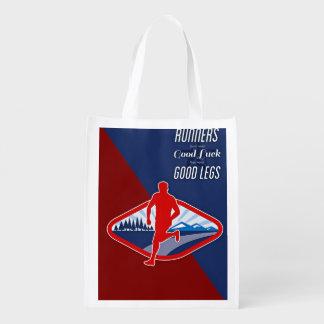 Runner Subject Grocery Bags