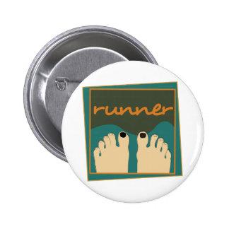 Runner Toes 2 Inch Round Button