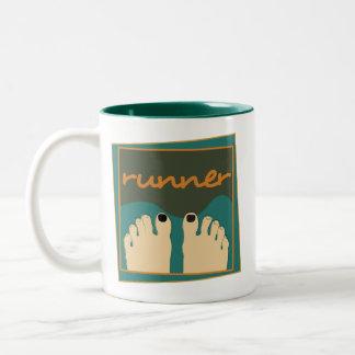 Runner Toes Two-Tone Coffee Mug