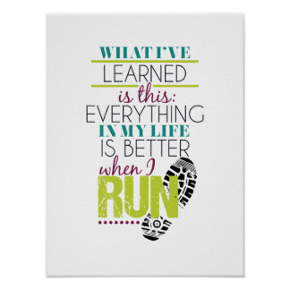 Runner Typographic Quote Poster
