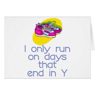 RunnerChick Days Card