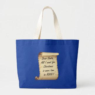 RunnerChick Dear Santa Canvas Bags