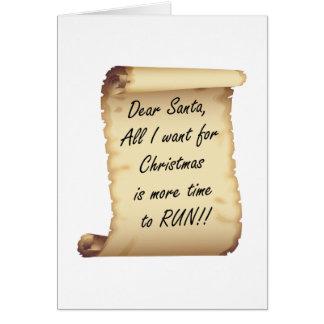 RunnerChick Dear Santa Card