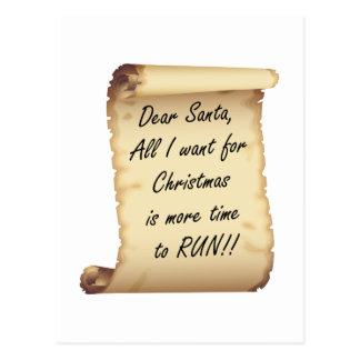 RunnerChick Dear Santa Postcard