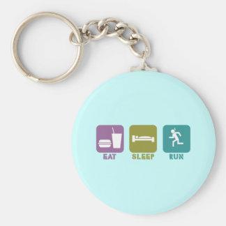 RunnerChick ESR Basic Round Button Keychain