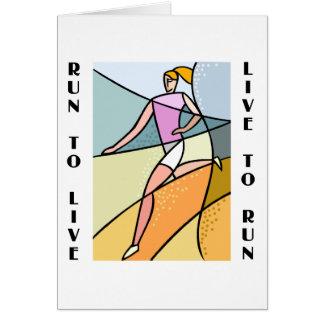 RunnerChick Live To Run Card