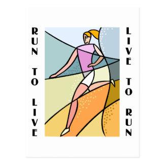 RunnerChick Live To Run Postcard