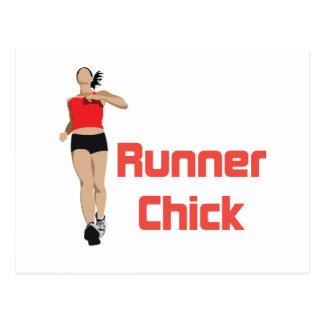 RunnerChick Logo Postcard