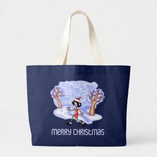 RunnerChick Merry Christmas Tote Bag