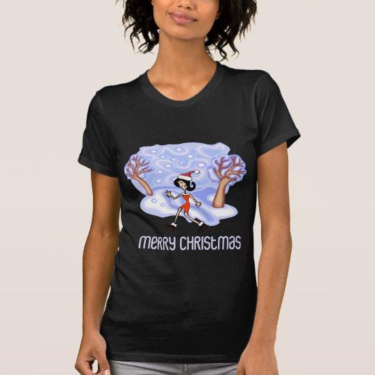 RunnerChick Merry Christmas T-Shirt