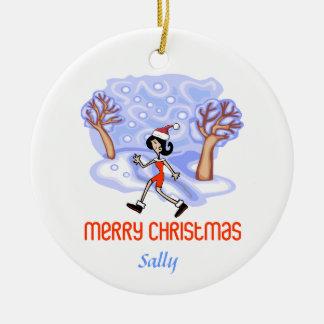 RunnerChick Personalized Ornament