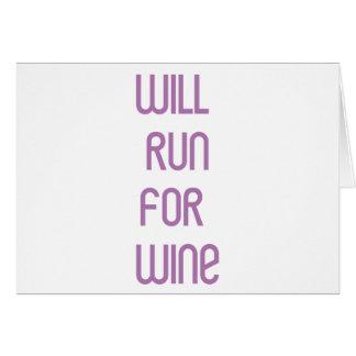 RunnerChick Wine Card