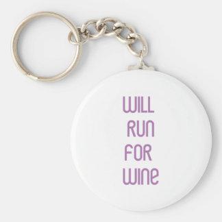RunnerChick Wine Keychain