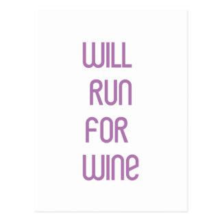 RunnerChick Wine Postcard