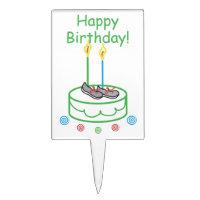 Runner's Birthday - Running Party Cake Topper