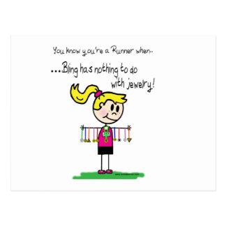 Runner's Bling Postcard