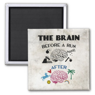 Runners Brain 2 Inch Square Magnet