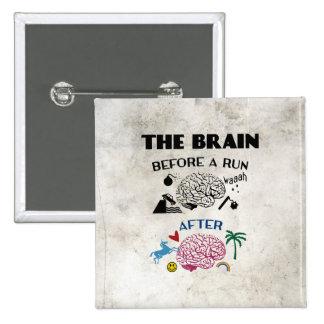 Runners Brain Pinback Button
