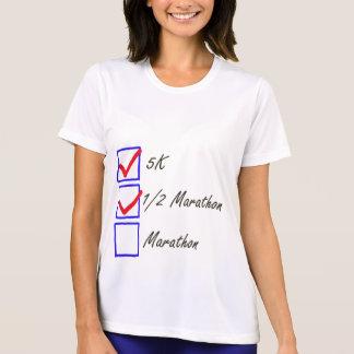 Runner's checklist design t shirt