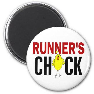 Runner's Chick 2 Inch Round Magnet