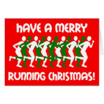 runners Christmas Greeting Cards