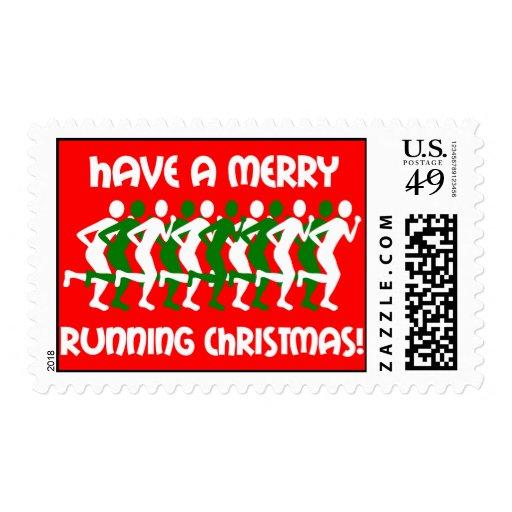 runners Christmas Postage