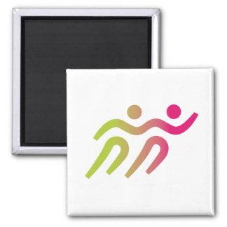 Runners cool illustration magnet