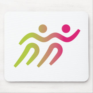 Runners cool illustration mouse pad