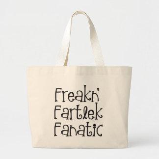 Runners Freakn' Fartlek Fanatic Large Tote Bag
