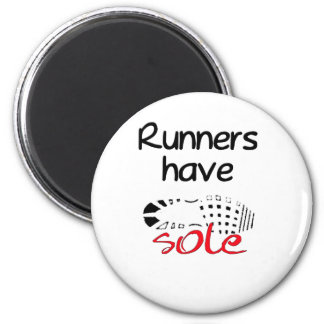 Runners Have Sole 2 Inch Round Magnet