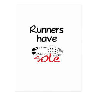 Runners Have Sole Postcard
