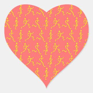 Runners! Heart Sticker