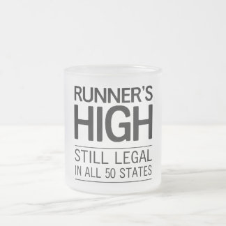 Runner's High Frosted Glass Coffee Mug