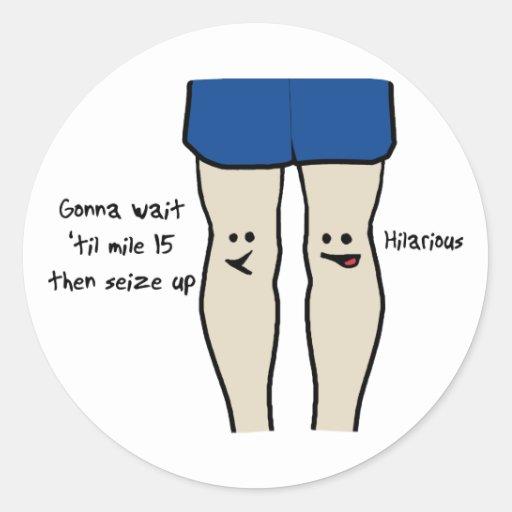 Runners Knees Classic Round Sticker