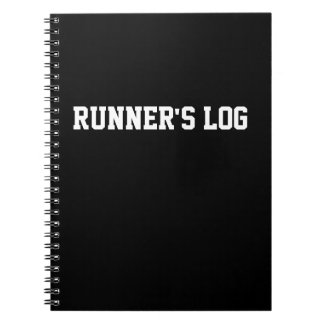 Runner's Log Running Notebook Black Spiral Journal
