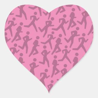 Runner's pattern heart sticker
