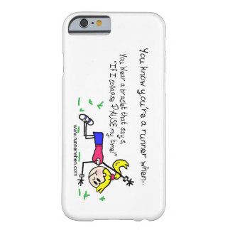 """Runner's Phone Case """"Pause my Time"""" Barely There iPhone 6 Case"""